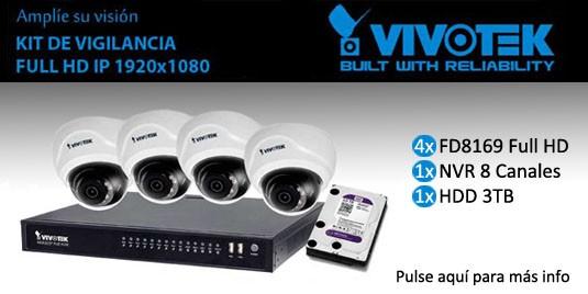 Pack 4 cámaras Domo, NVR y HDD